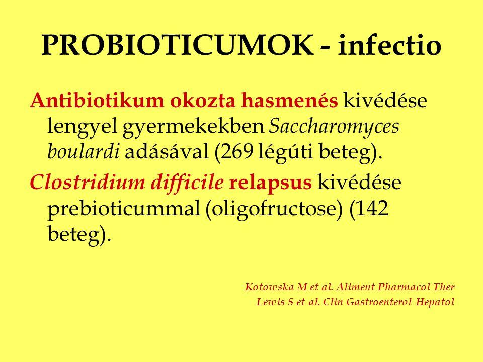 PROBIOTICUMOK - infectio