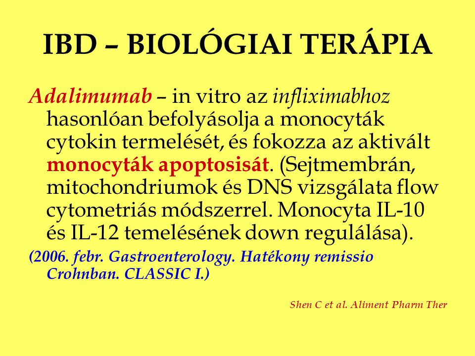 IBD – BIOLÓGIAI TERÁPIA