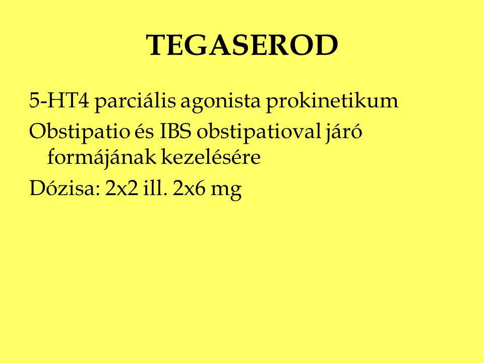 TEGASEROD 5-HT4 parciális agonista prokinetikum