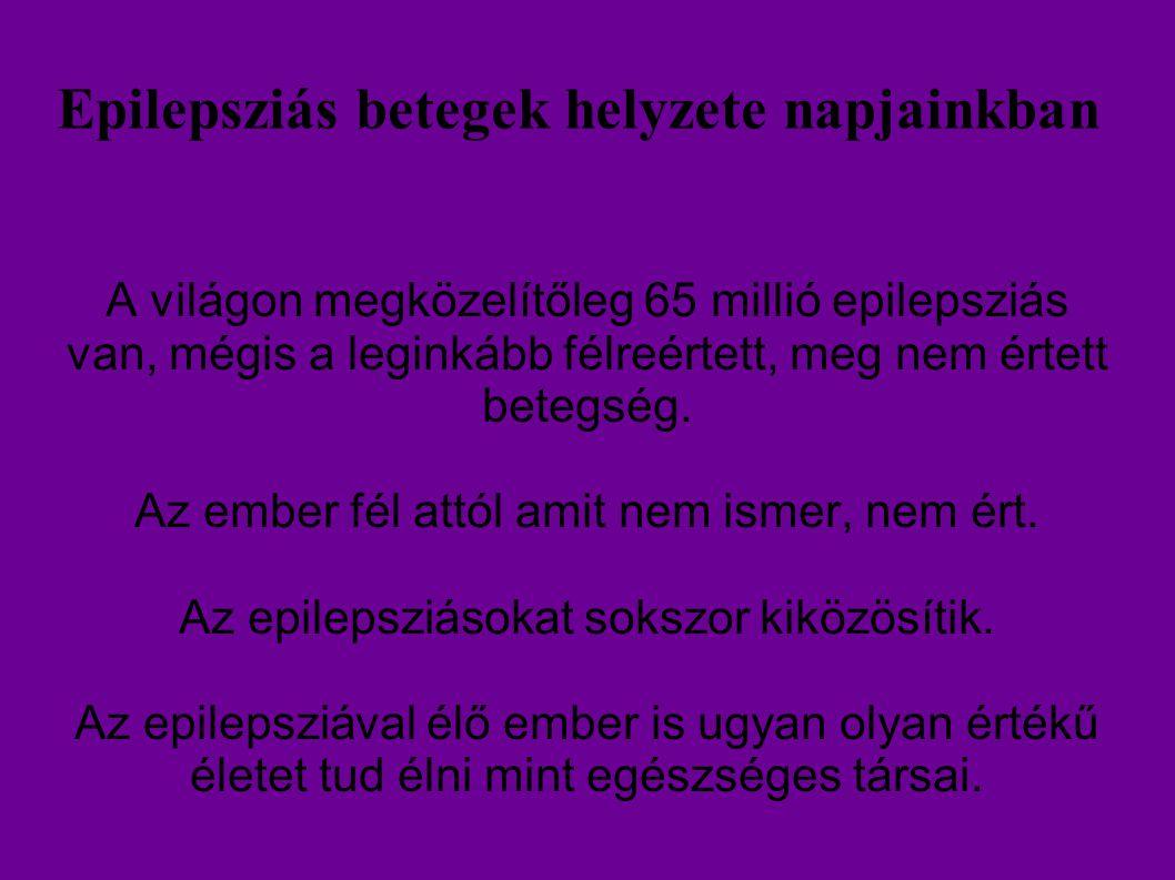Epilepsziás betegek helyzete napjainkban