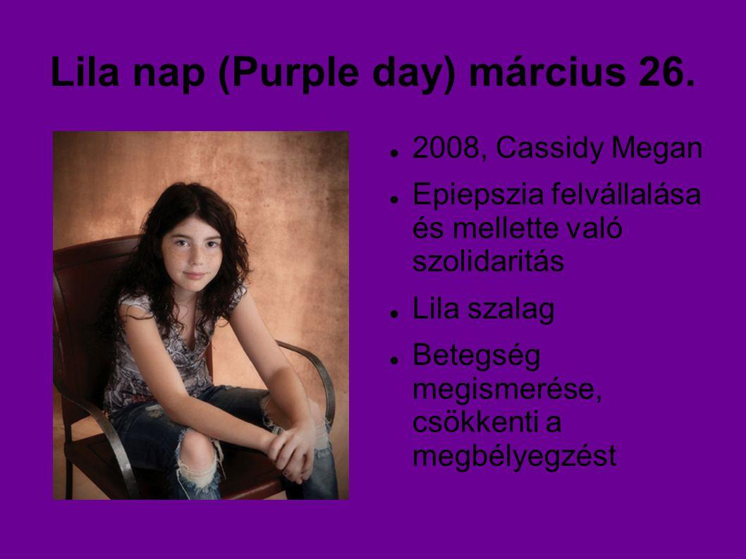 Lila nap (Purple day) március 26.