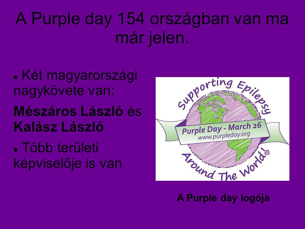 A Purple day 154 országban van ma már jelen.