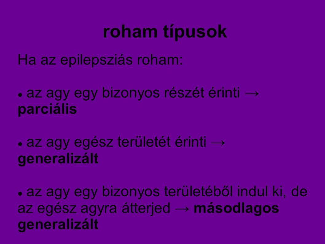 roham típusok Ha az epilepsziás roham: