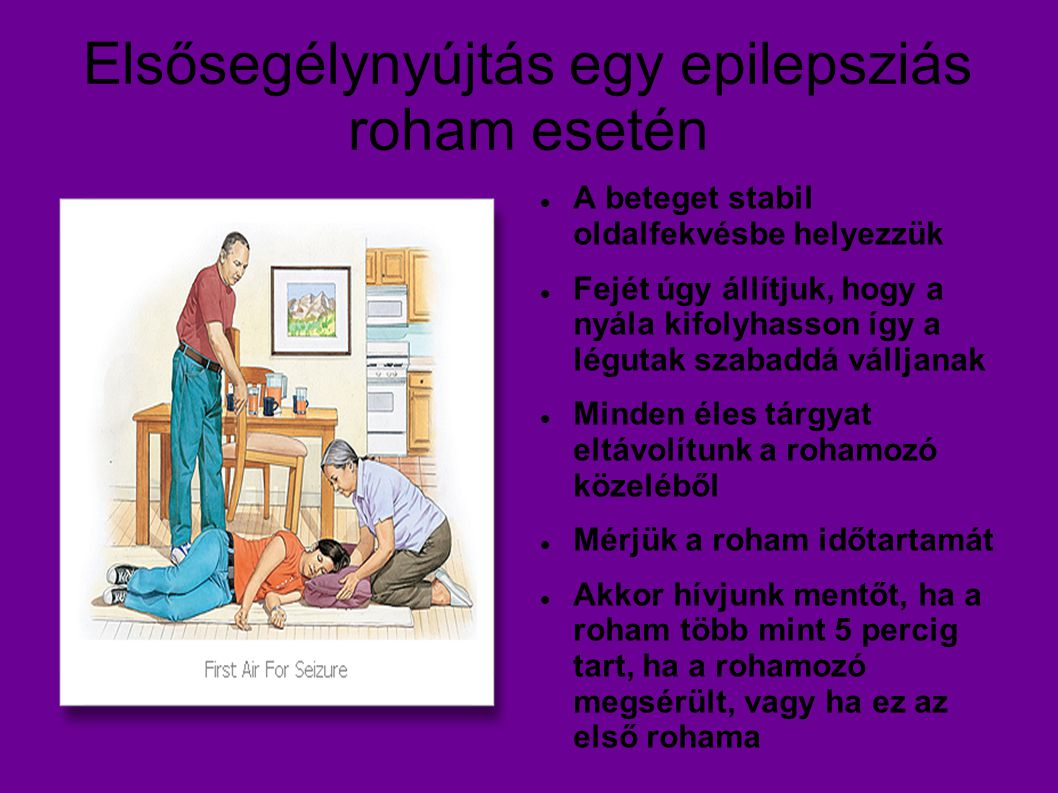 Elsősegélynyújtás egy epilepsziás roham esetén