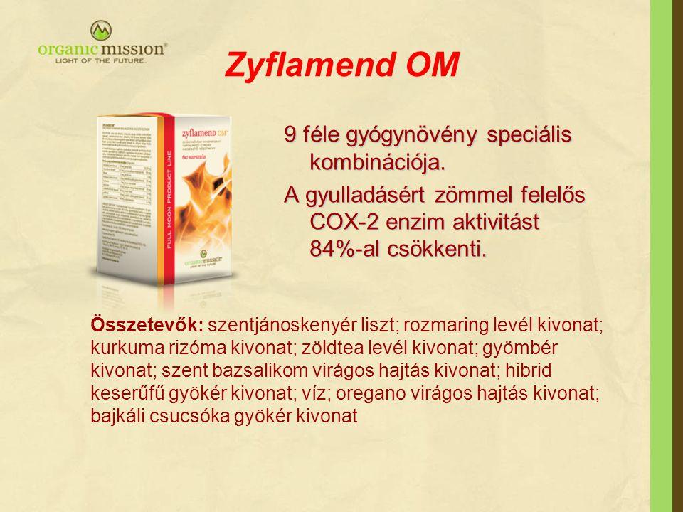 Zyflamend OM 9 féle gyógynövény speciális kombinációja.