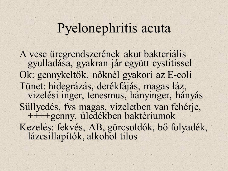 Pyelonephritis acuta