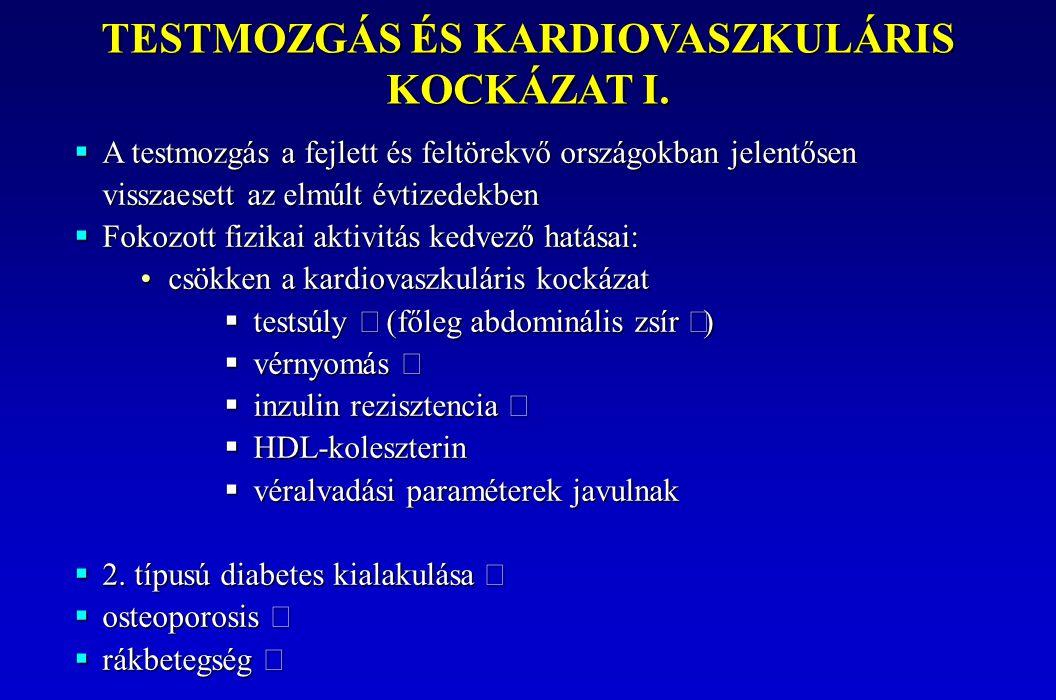 TESTMOZGÁS ÉS KARDIOVASZKULÁRIS KOCKÁZAT I.