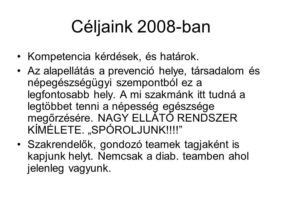 Céljaink 2008-ban Kompetencia kérdések, és határok.