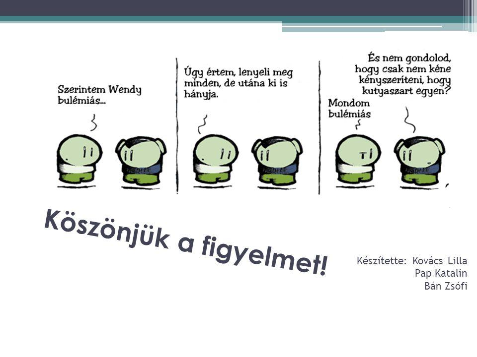 Köszönjük a figyelmet! Készítette: Kovács Lilla Pap Katalin Bán Zsófi