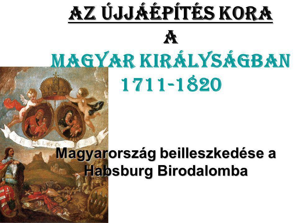 Az újjáépítés kora a Magyar Királyságban 1711-1820