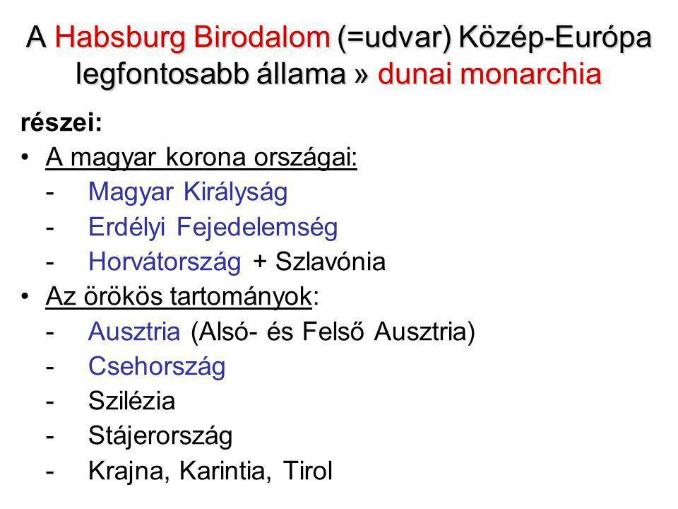A Habsburg Birodalom (=udvar) Közép-Európa legfontosabb állama » dunai monarchia