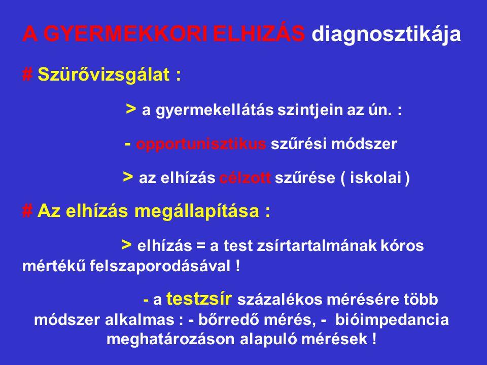 A GYERMEKKORI ELHIZÁS diagnosztikája
