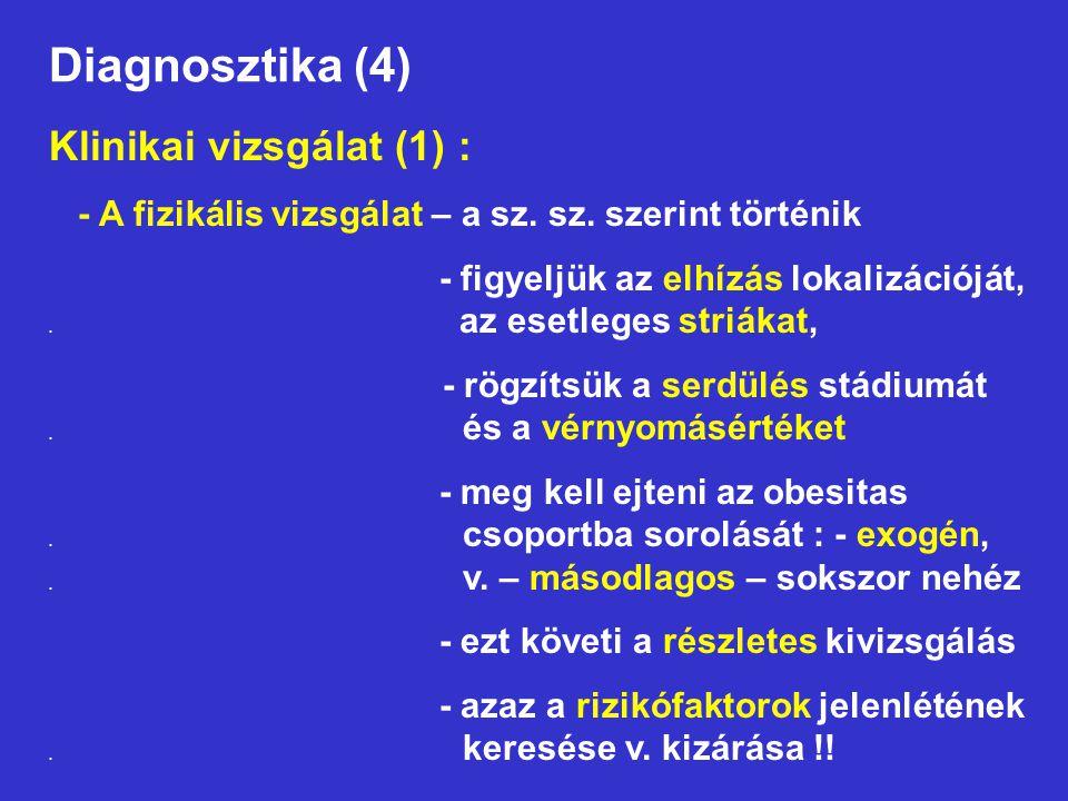 Diagnosztika (4) Klinikai vizsgálat (1) :