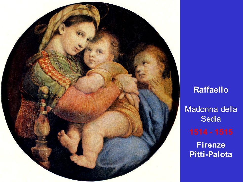 Raffaello Madonna della Sedia 1514 - 1515 Firenze Pitti-Palota