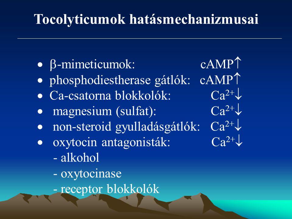 Tocolyticumok hatásmechanizmusai