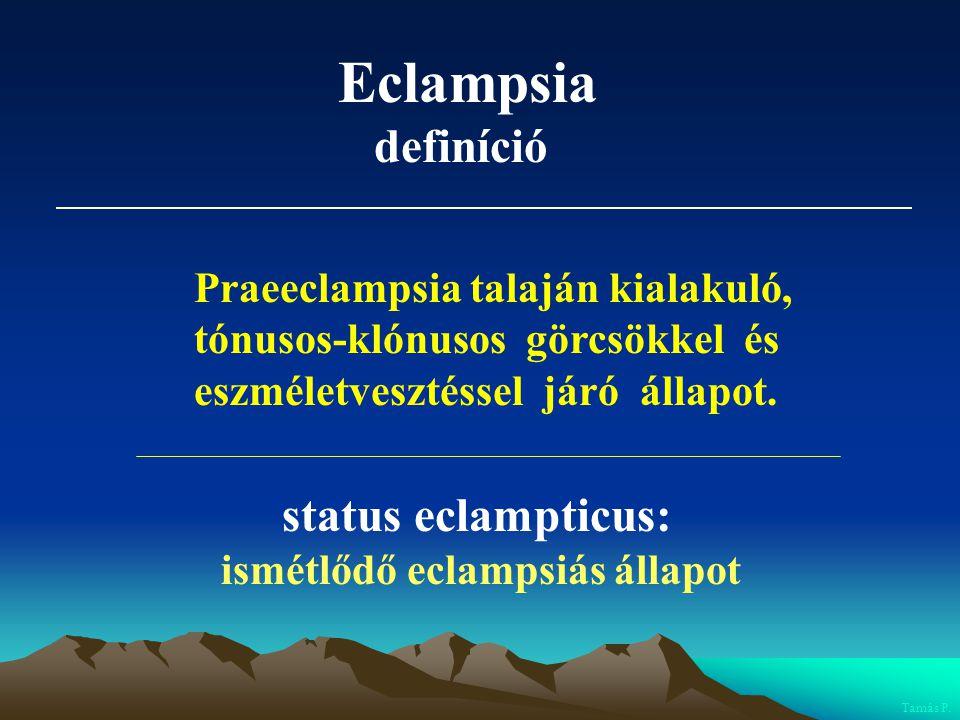 Eclampsia definíció status eclampticus: