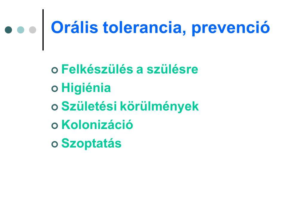 Orális tolerancia, prevenció