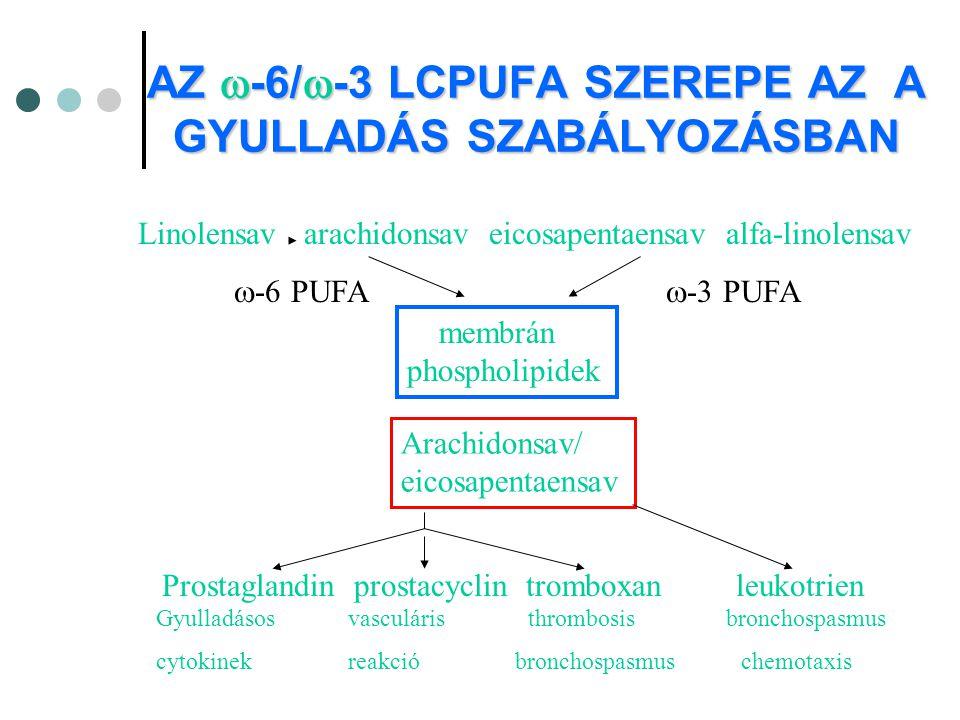 AZ -6/-3 LCPUFA SZEREPE AZ A GYULLADÁS SZABÁLYOZÁSBAN
