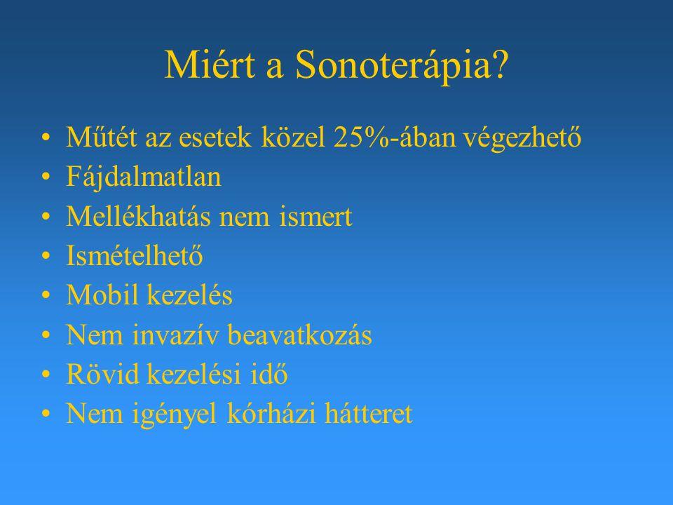 Miért a Sonoterápia Műtét az esetek közel 25%-ában végezhető