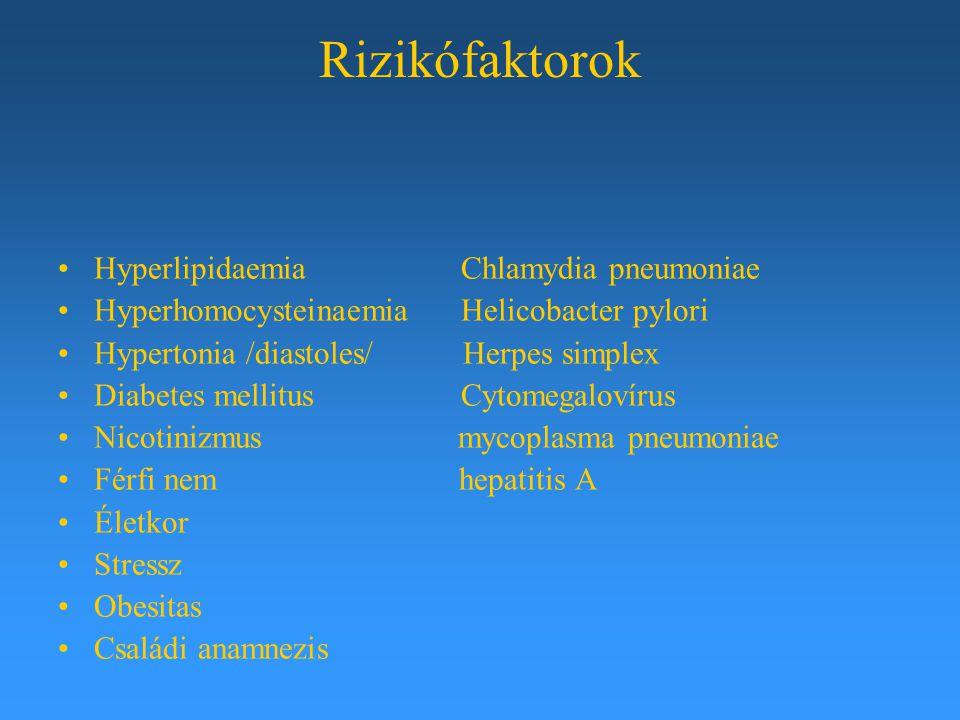 Rizikófaktorok Hyperlipidaemia Chlamydia pneumoniae