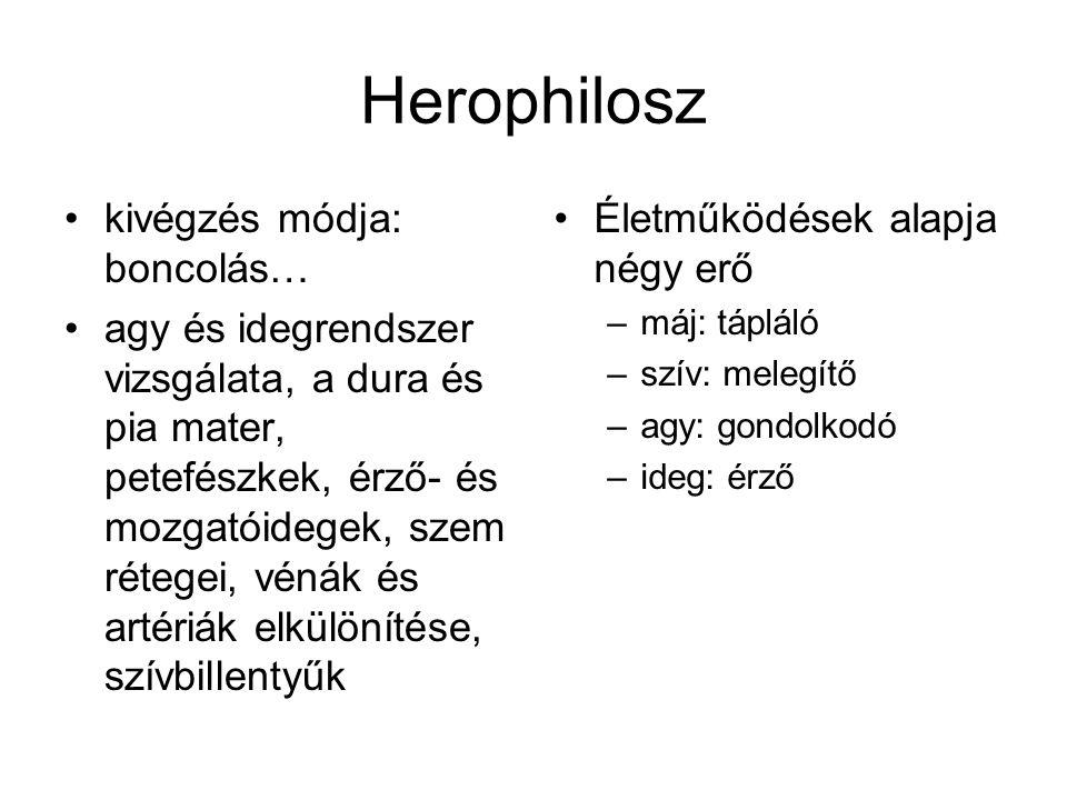 Herophilosz kivégzés módja: boncolás…