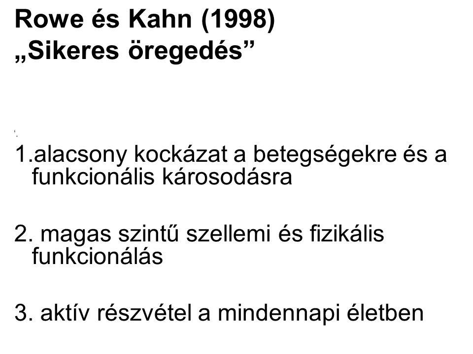 """Rowe és Kahn (1998) """"Sikeres öregedés"""