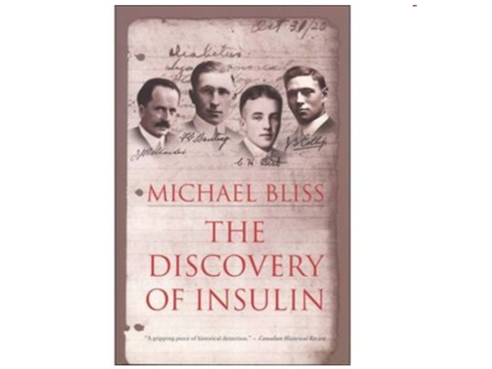 In 1921, four scientists at the University of Toronto, Banting, Best, MacLeod, and Collip, first isolated this pancreatic hormone. That year when they published their research in the American Journal of Physiology (Proceedings of the American Physiology Society, December, 1921) they wrote, we suggest the name insulin.