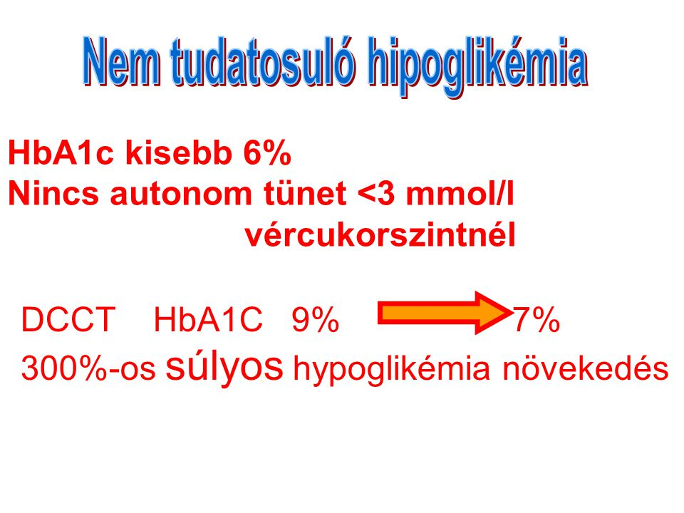 Nem tudatosuló hipoglikémia