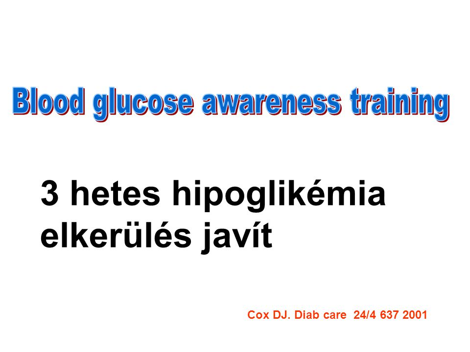 Blood glucose awareness training