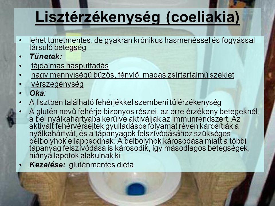 Lisztérzékenység (coeliakia)