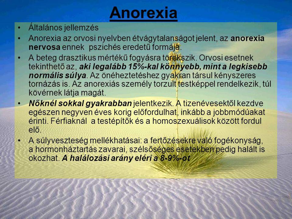 Anorexia Általános jellemzés