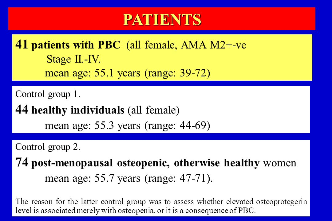 PATIENTS 41 patients with PBC (all female, AMA M2+-ve