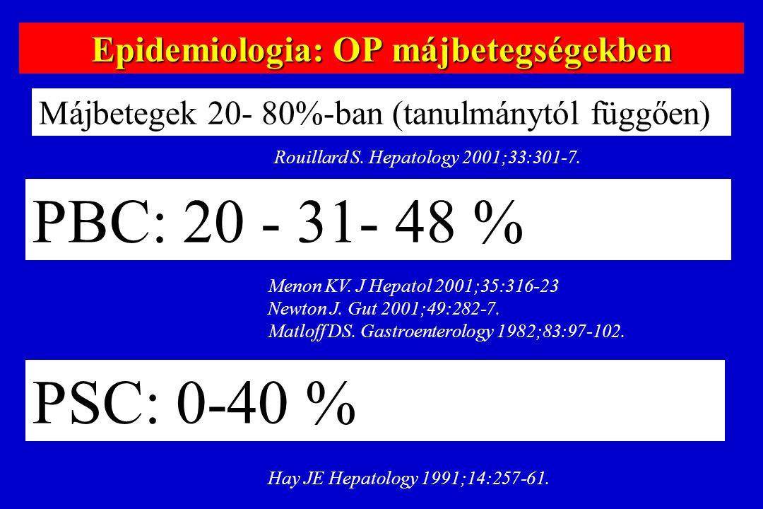 Epidemiologia: OP májbetegségekben