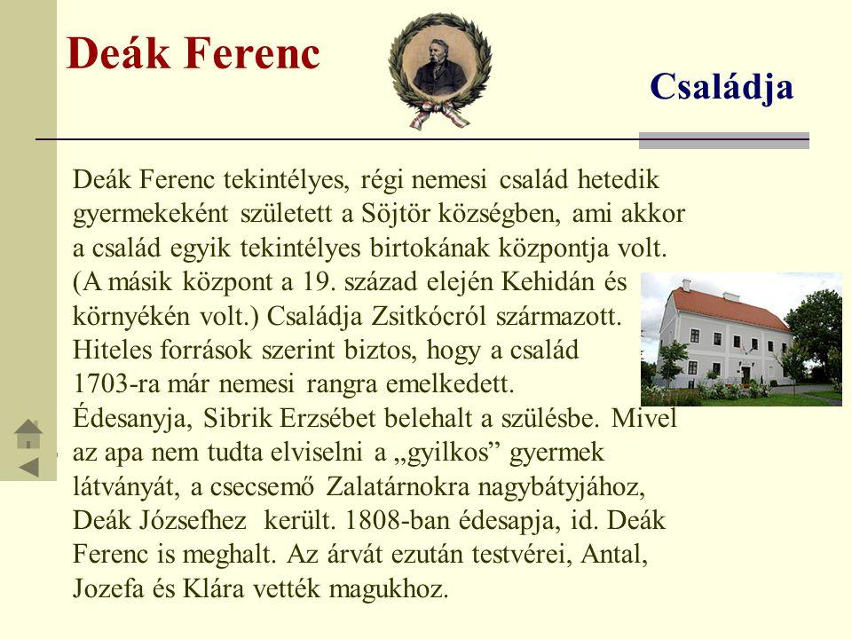 Deák Ferenc Családja.
