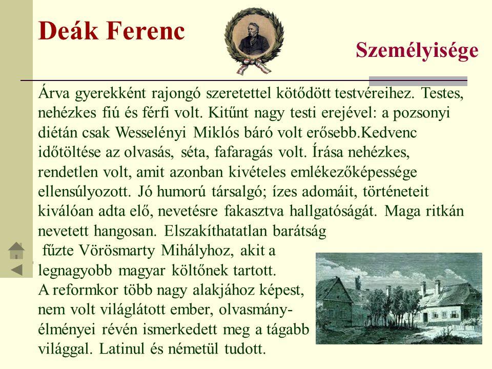 Deák Ferenc Személyisége