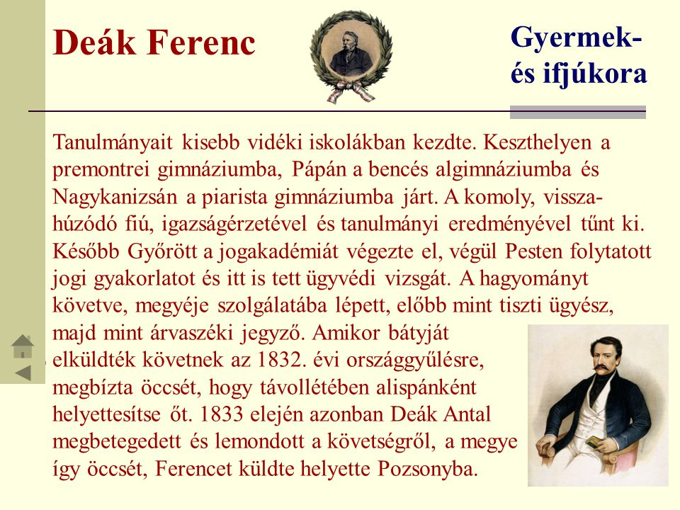 Deák Ferenc Gyermek- és ifjúkora