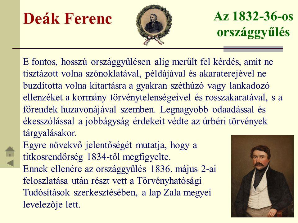Deák Ferenc Az 1832-36-os országgyűlés