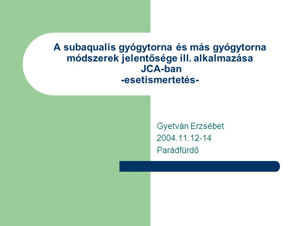 Gyetván Erzsébet 2004.11.12-14 Parádfürdő