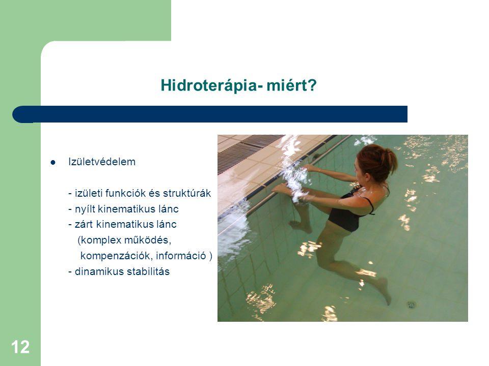 Hidroterápia- miért Izületvédelem - izületi funkciók és struktúrák