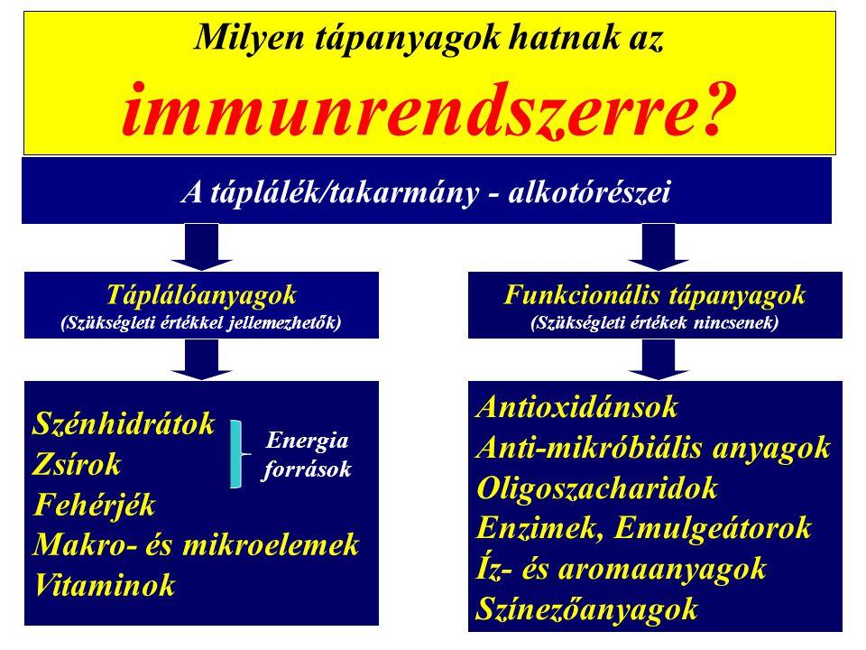 Milyen tápanyagok hatnak az immunrendszerre