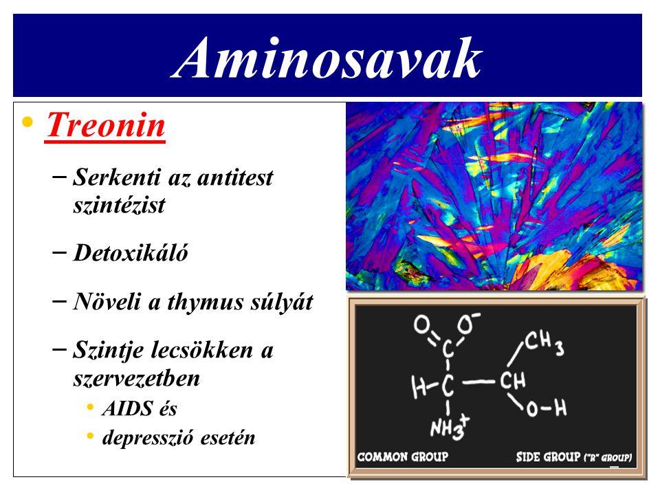 Aminosavak Treonin Serkenti az antitest szintézist Detoxikáló