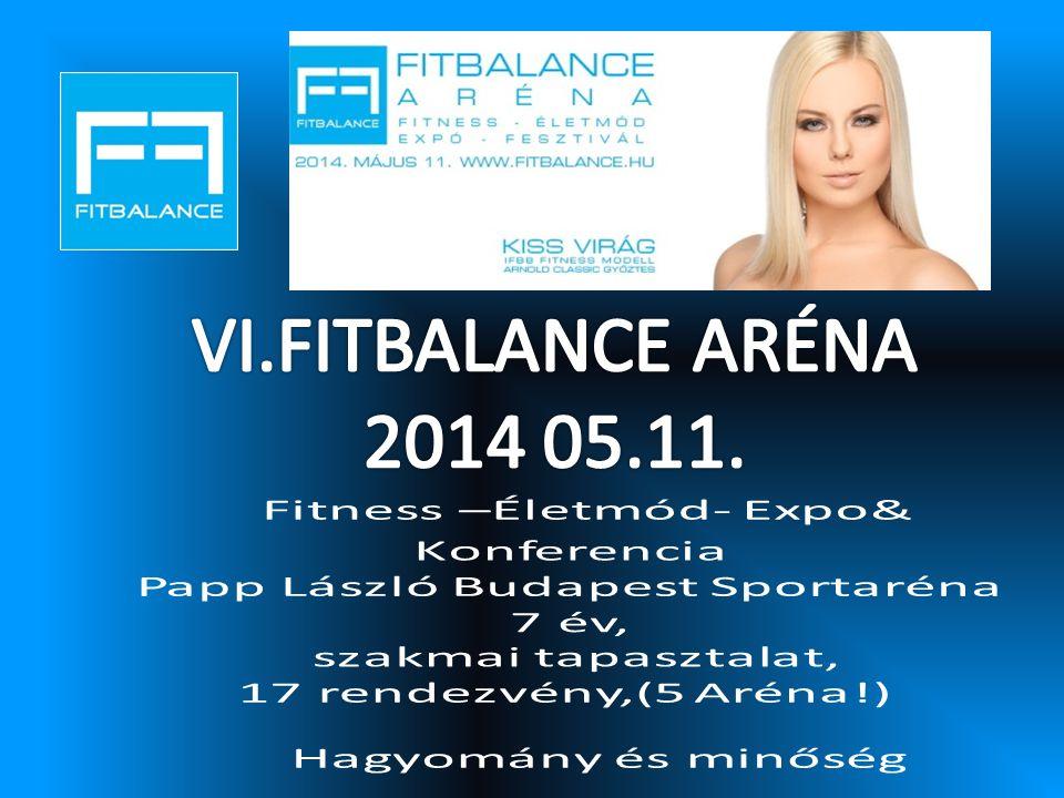 VI.FITBALANCE ARÉNA 2014 05.11. Fitness –Életmód- Expo& Konferencia