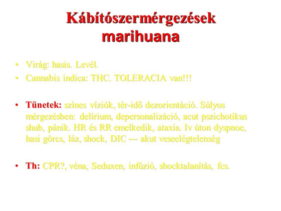 Kábítószermérgezések marihuana