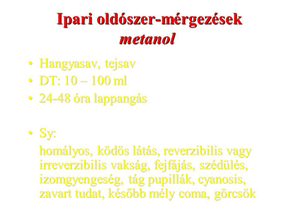 Ipari oldószer-mérgezések metanol