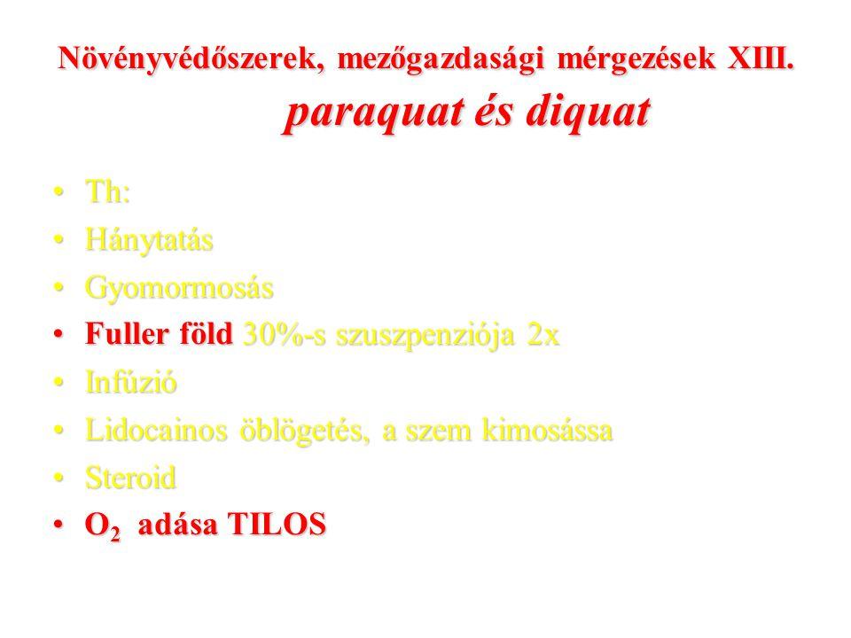 Növényvédőszerek, mezőgazdasági mérgezések XIII. paraquat és diquat