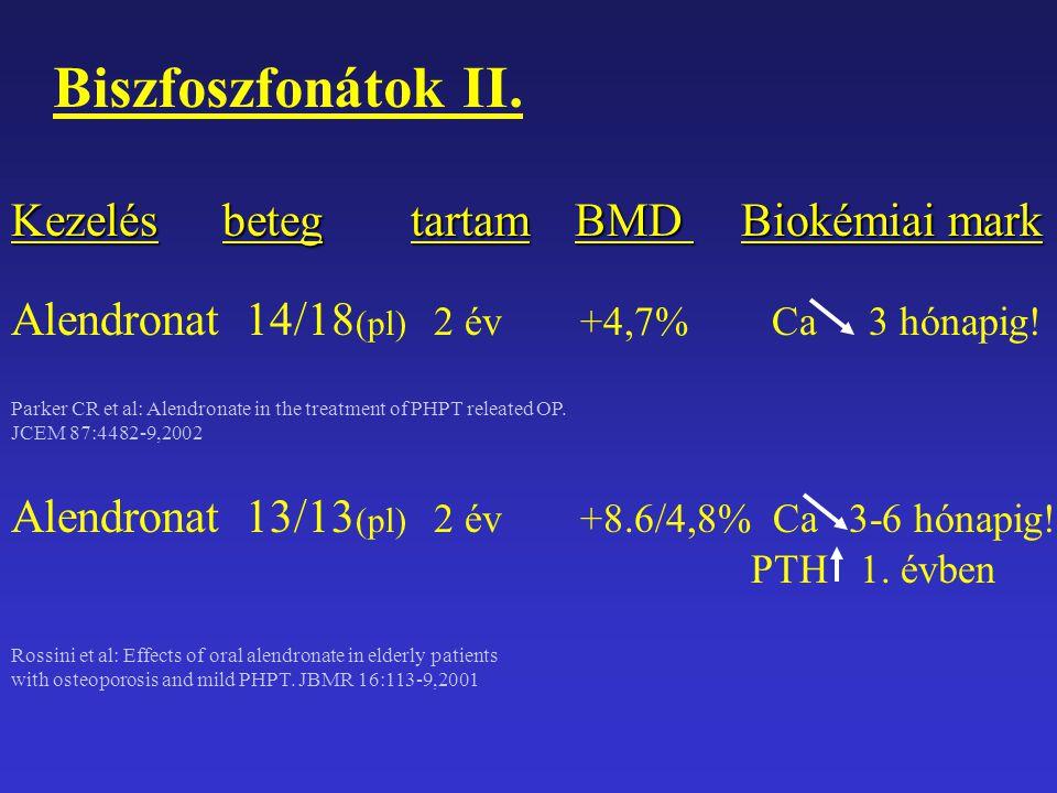 Biszfoszfonátok II. Kezelés beteg tartam BMD Biokémiai mark