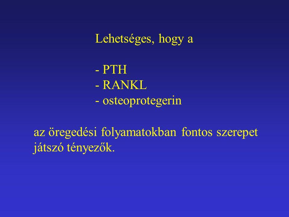 Lehetséges, hogy a PTH. RANKL. osteoprotegerin.
