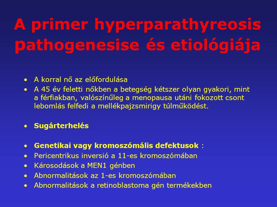 A primer hyperparathyreosis pathogenesise és etiológiája