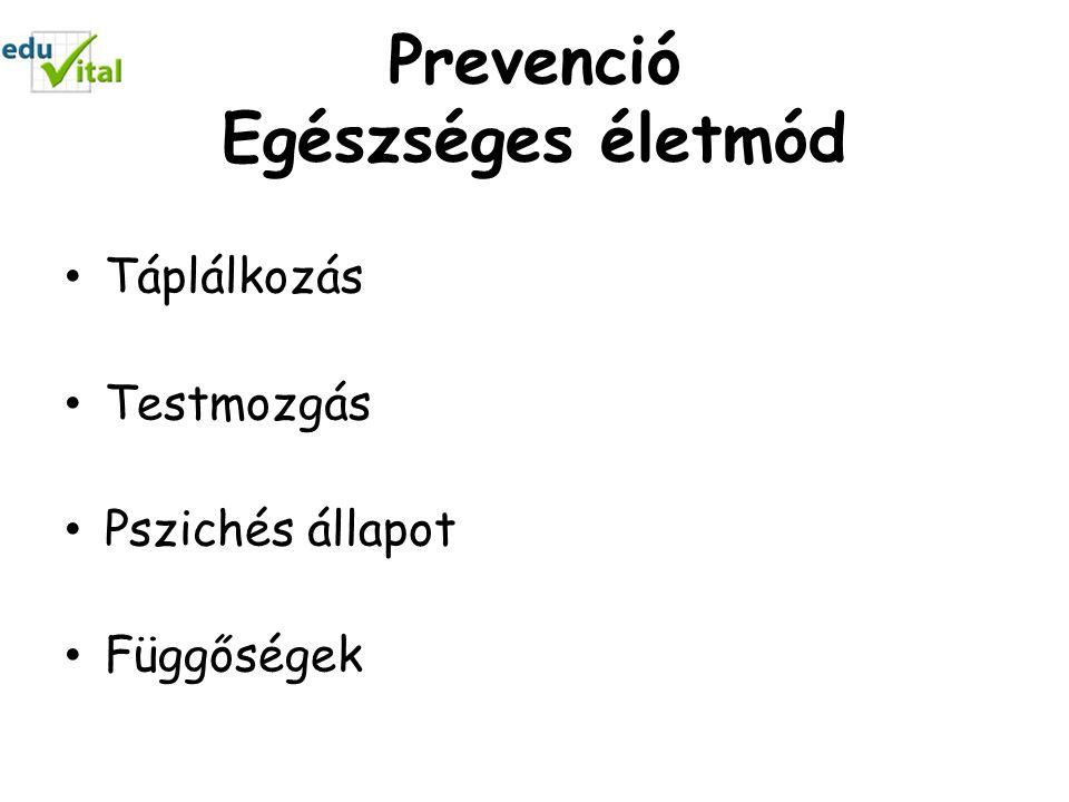 Prevenció Egészséges életmód