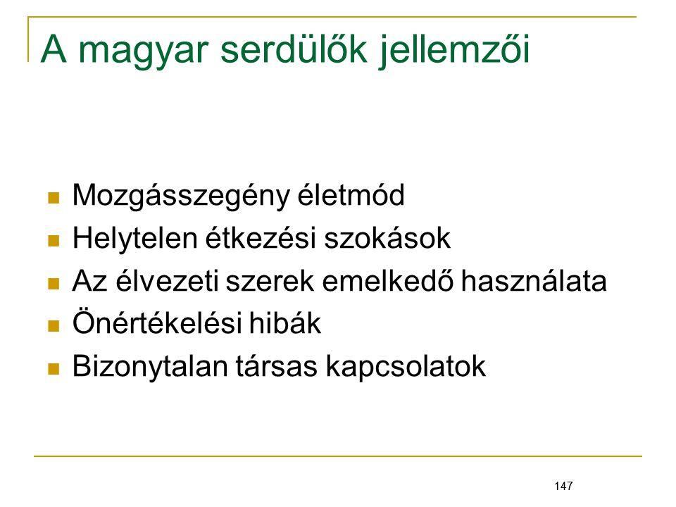 A magyar serdülők jellemzői